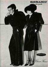 VINTAGE YVES SAINT LAURENT SCANDAL 40s LOOK VELVET DRESS YSL RIVE GAUCHE