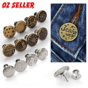4/8pc 17mm Jeans Jacket Denim Buttons Press Repair Tack Replacement No Sewing