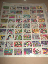 VINTAGE 1978 CHRISTMAS STAMPS / SEALS X 54 FULL SHEET AMERICAN LUNG ASSOCIATION