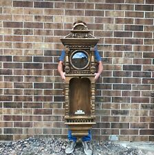 Rare Gazo Massive Wall Clock Case for Restoration 57 1/2 inch Tall