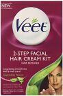 Veet 2 Step Kit Facial Hair Remover Cream 1.69Z Finishing Cream 1.69Z Applicator