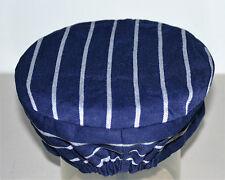 Chefs /  Butchers skull cap hat Navy / White