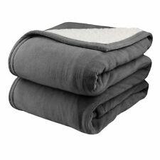 Biddeford 2064-9052140-902 MicroPlush Sherpa Electric Heated Blanket King Grey