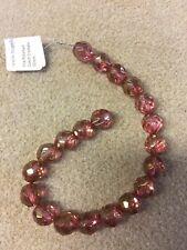 Firepolished Crystal Beads 12mm Pink Luster