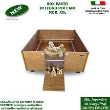 Cassa parto box in legno xxl per cani cucce scatola cuccioli cane recinti cuccia