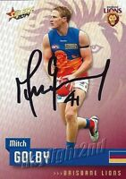 ✺Signed✺ 2014 BRISBANE LIONS AFL Card MITCH GOLBY