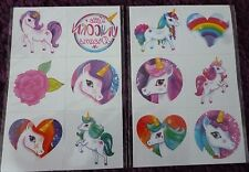 12 UNICORN TEMPORARY TATTOOS*PARTY BAG FILLER/ PRIZES*KIDS*GIRLS*FAVOURS*