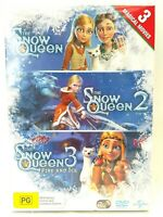 The Snow Queen 2 3 Fire And Ice DVD Region 4 Trilogy Collection Box Set Sealed