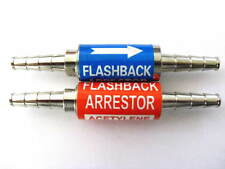"Oxygen/Acetylene Flashback Arrestor Set 1/4"" Barbs, Torch Welding, Iso 9001 cert"