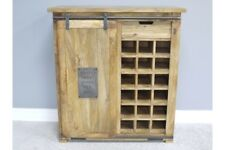 Industrial Reclaimed Wooden Wine Cabinet - Timeless Style - Home Bar - Kitchen