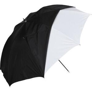 "Westcott #2012 Umbrella White Satin with Removable Black Cover 32"" #QDR123"