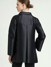 ARMANI Collezioni- Techno and Silk midnight blue Swing Coat. NWOT
