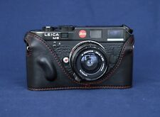 Mr. Zhou Black Leather Half Case with Red Stitch for Leica M2 M3 M4 M6 M7 MP