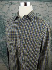 Abercrombie & Fitch Men's Plaid Long Sleeve Shirt - Blue/Green Sz Md - U995a