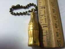 Vintage Coca Cola Gold Color Keychain Figural FOB