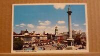 Postcard unposted London, Trafalgar square