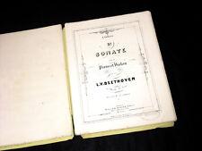 3ème sonate pour piano et violon Op.12 partition 1859 Beethoven