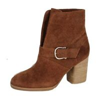 Isola women's ankle boots leather upper brown heels size 6.5