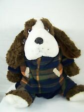"Cocker Spaniel Stuffed Plush Animal Dog wit Jacket and Pants 14"" Sitting"