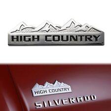3D Silver HIGH COUNTRY Aluminum Car Emblem Sticker for Chevy Chevrolet Silverado