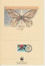 ENCART WWF  FDC  PORT MORESBY PNG  PAPILLON 1988
