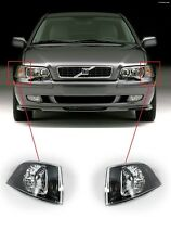 FOR VOLVO S40/V40 00-04 FRONT CLEAR TURN SIGNAL INDICATOR BLACK INSIDE PAIR SET