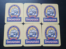 ADNAMS BROADSIDE - Classic - 6 Vintage Beer Mats/Coasters - VG