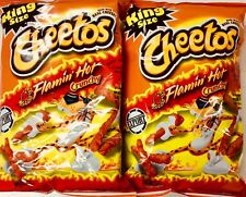 TWO Bags Of 3.5oz Flamin Hot Crunchy Cheetos American Import