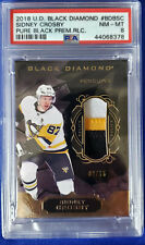 20178-19 Black Diamond Pure Blk. Relics # 02/15, Sidney Crosby. PSA: 8 Nm-Mt