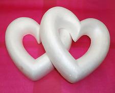 Conjunto de 2 X 25 cm corazón abierto de poliestireno corona Poliestireno formas de espuma de poliestireno