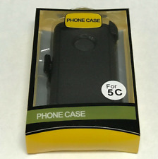 For Apple iPhone 5C Case Cover w(Belt Clip fits Otterbox Defender Series) Black