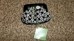 Vera Bradley Night & Day Black White  Magnetic Clutch Coin Purse Wallet New NWT