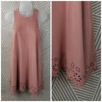 Paper Crane Dress size Small Sheath Cocktail Party Ultra suede Faux Leather pink