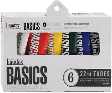 Liquitex Basics Acrylic Paint 22ml 6/Pkg-Assorted Colors