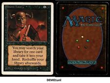 MRM ENGLISH Demonic tutor Good MTG magic Unlimited( DEM01UNL)