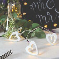 Festive Lights 1.5m Battery Power Indoor LED Love Heart Fairy Lights | Wedding