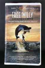 Free Willy VHS Clamshell Case Whale Movie