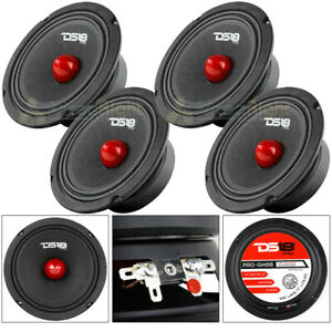 "4 DS18 PRO-GM6B 6.5"" Midrange Bullet Speakers 480 Watts Max Power 8 Ohm Speaker"