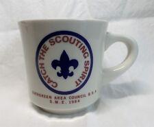 1984 BSA Scouting Coffee MUG Washington State Boy Scouts Council EVERGREEN nice
