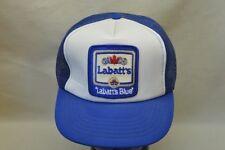 Labatts Blue Beer Trucker Snapback Cap Mens Adjustable Hat