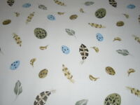 SANDERSON CURTAIN FABRIC EGG AND FEATHER   2.8 METRES  DK1299