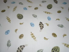 SANDERSON CURTAIN FABRIC EMMA BRIDGEWATER EGG AND FEATHER 2.7 METRES  DK1251