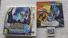 POKEMON MOON NINTENDO 3DS V.G.C. FAST POST ( RPG complete with leaflet )