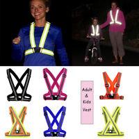 Adjustable Safety High Visibility Reflective Vest Gear Stripes Light Jacket