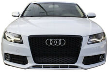 Audi A4 B8 2009-12 Kidneys Radiator Grille Black Gloss Mesh Grille RS4 S LINE