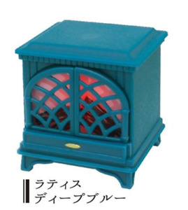 J Dream Gashapon Mini Fireplace LED  - No.1 Wood Brown