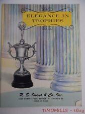 1962 R.S. Owens & Co. Sports Trophies Trophy Plaque Award Medal Catalog Vintage