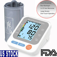 Digital Upper Arm Blood Pressure Monitor BP Cuff Voice Talking LCD Meter Tester