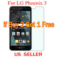 1x Clear LCD Screen Protector Guard Cover Shield Film For LG Phoenix 3 / M150