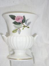 Wedgwood Floral Vintage Rose China Posy Bud Table Urn Vase England c1960s 9cms